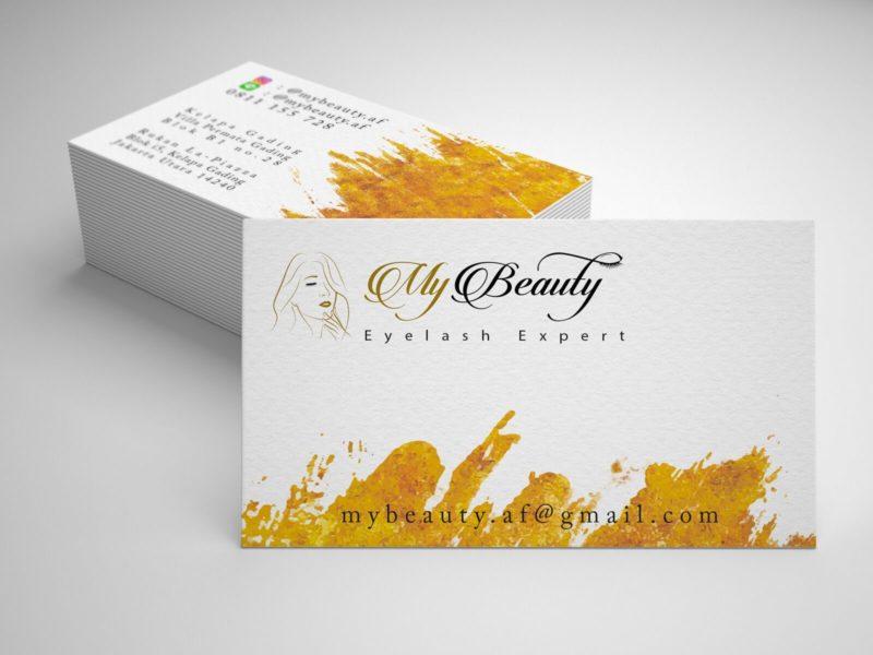 Образец визитки салона My Beauty