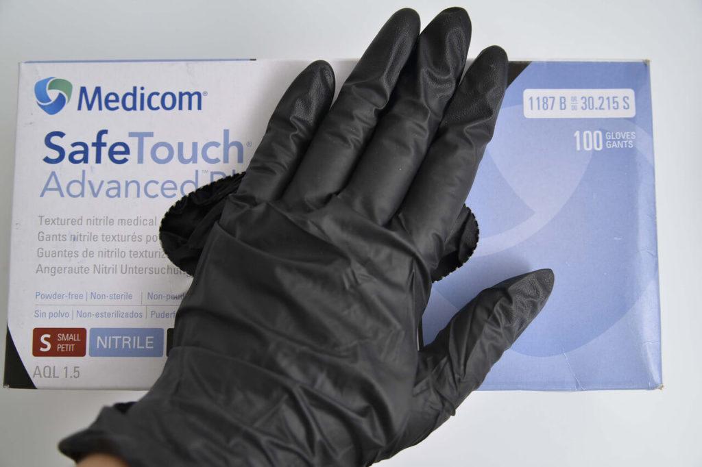 Нитриловые латекстные перчатки для защиты рук