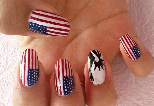 Американский дизайн ногтей фото