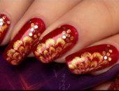 Новогодний дизайн ногтей фото-53
