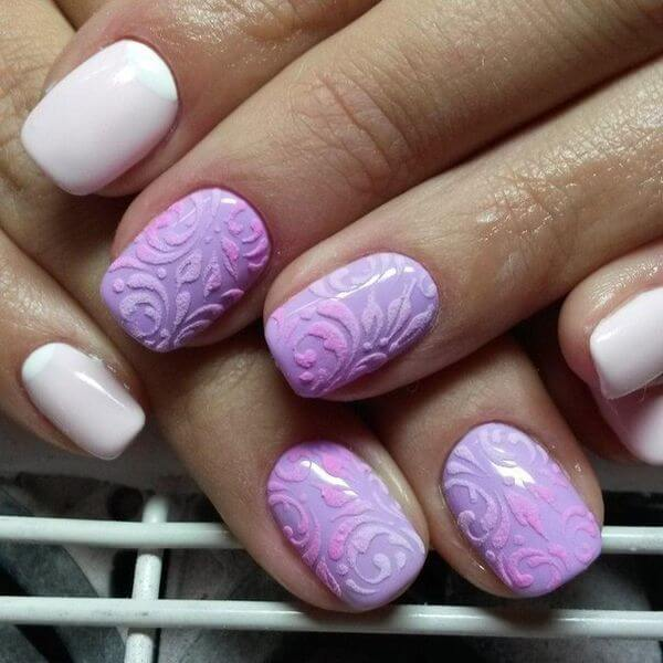 Объемный дизайн на короткие ногти