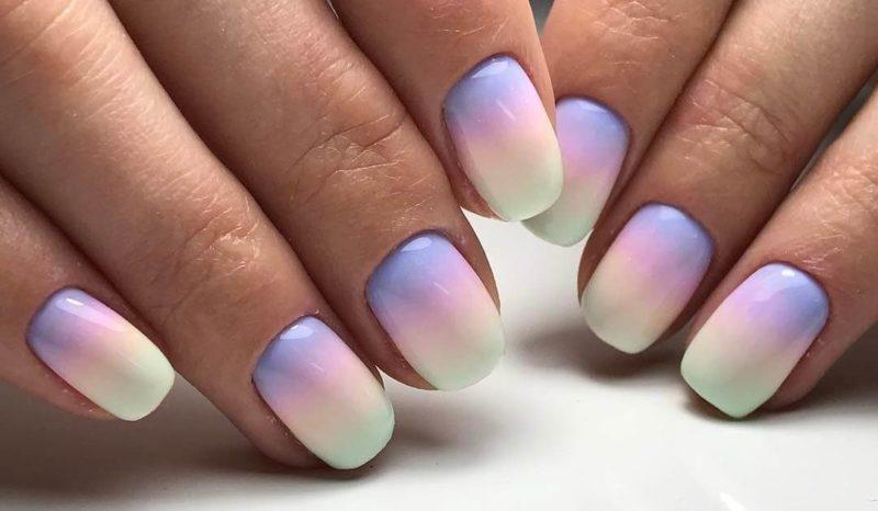 Омбре или градиент дизайн ногтей