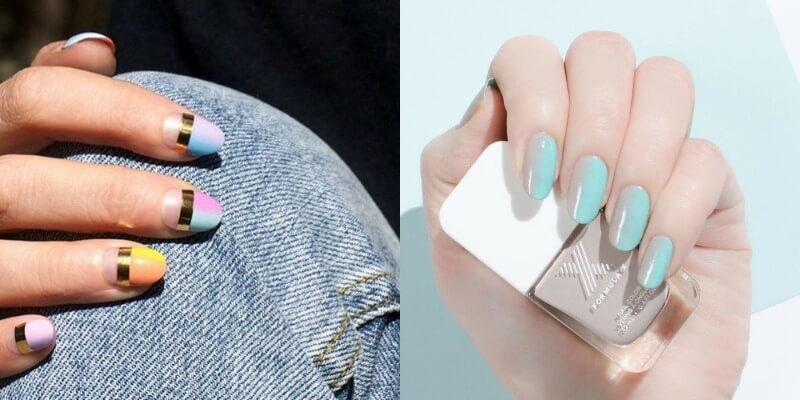 Омбре и градиент на ногтях