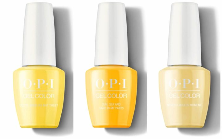 Желтые оттенки OPI