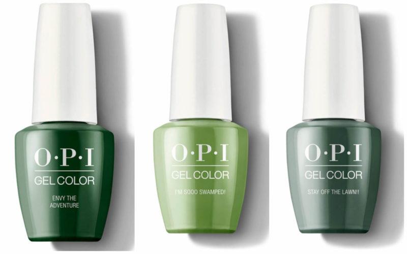Зеленые оттенки OPI