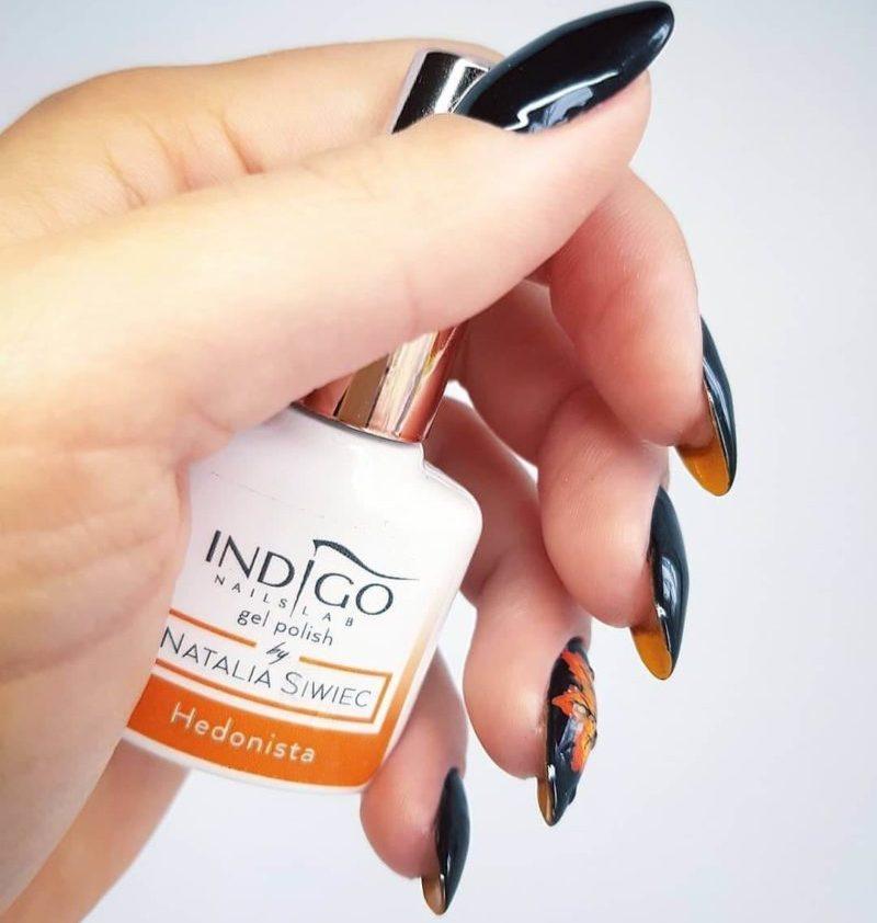 Осенний лабутен-маникюр на длинные ногти