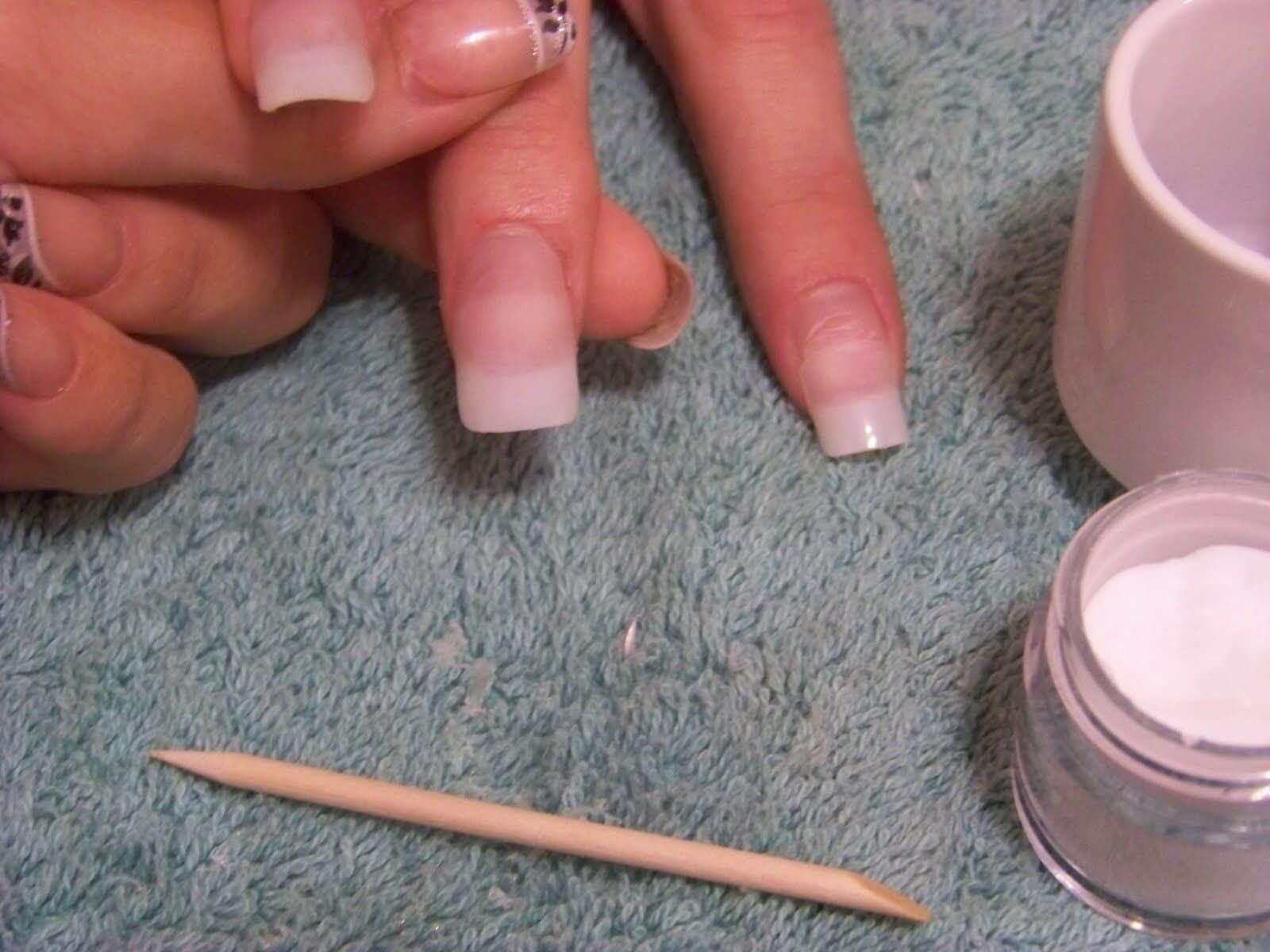 Ошибки при наращивании ногтей акрилом