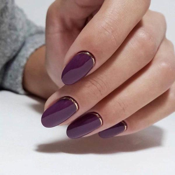 Повседневный маникюр на длинные ногти