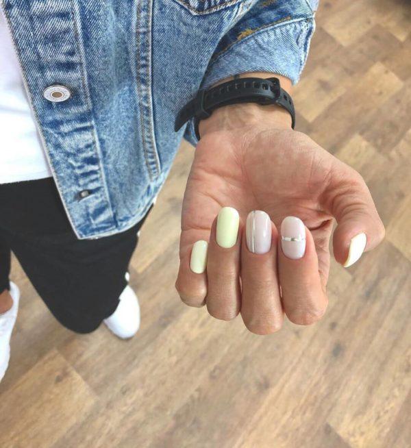 Повседневный маникюр на короткие ногти