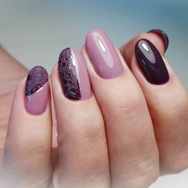 Идея пузырькового маникюра на длинные ногти