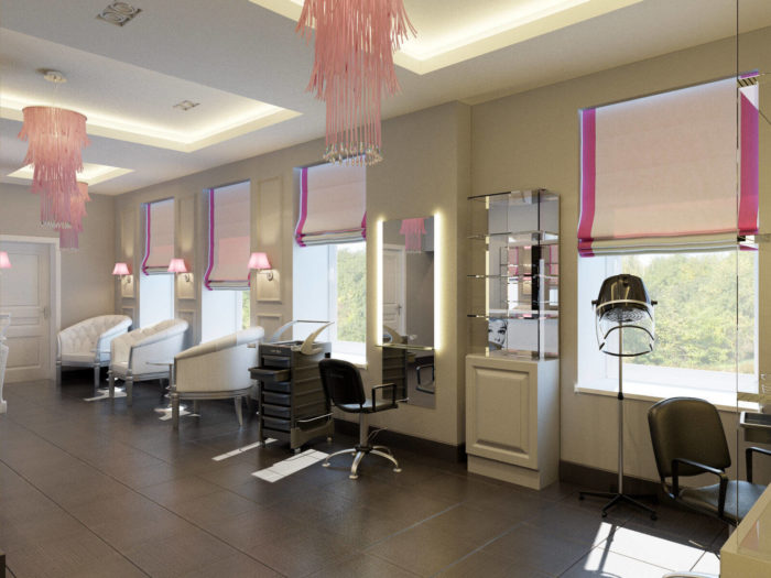 Рабочая зона в салоне красоты Одри Хепберн
