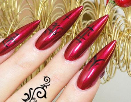 рисунки на ногтях - иероглифы
