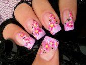 Цветочные рисунки на ногтях