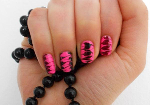Рисунки на ногтях иголкой как сделать