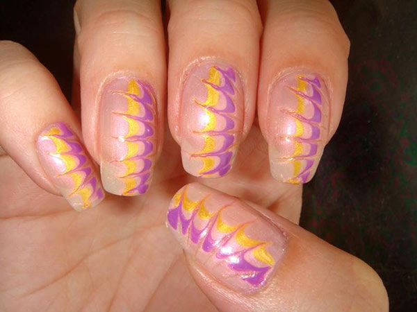 Создание рисунка на ногтях иголкой - 2 способ