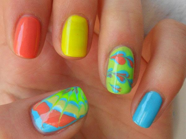 Рисунки на ногтях иголкой - как сделать