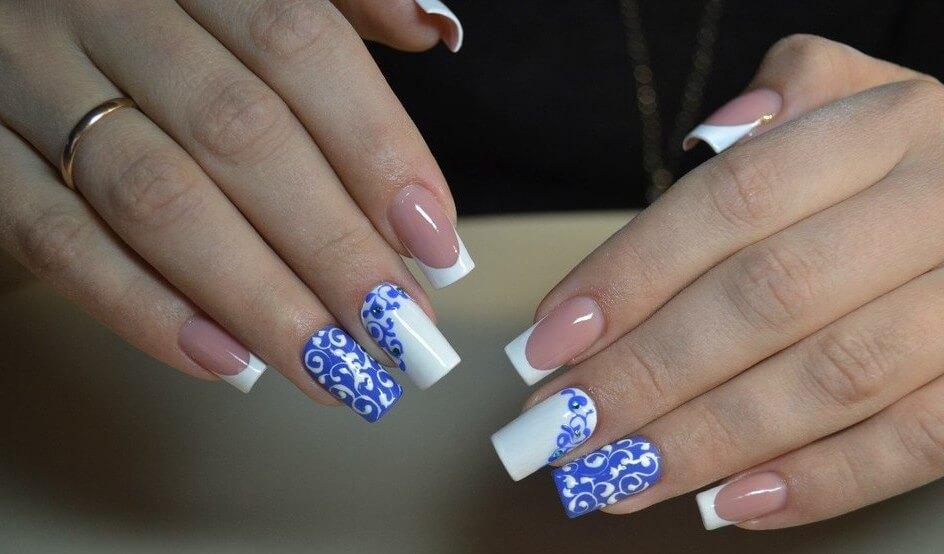Роспись ногтей кружевами