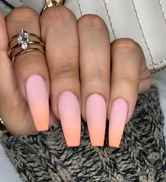 Розово персиковый градиент