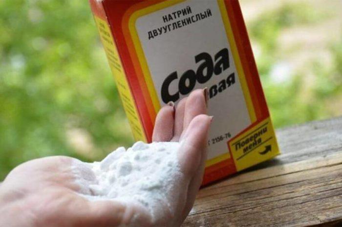 Ванночка против натоптышей с содой