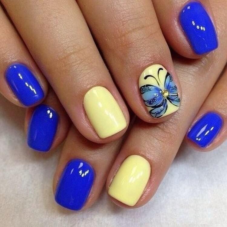 Классическое сочетание синего с желтым
