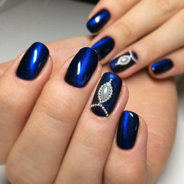 Жидкие камни в синей гамме