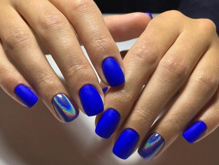 Синий металлик с втиркой