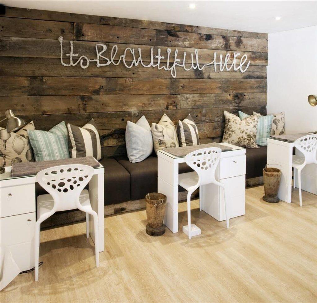 Скандинавский стиль дизайна интерьера салона красоты