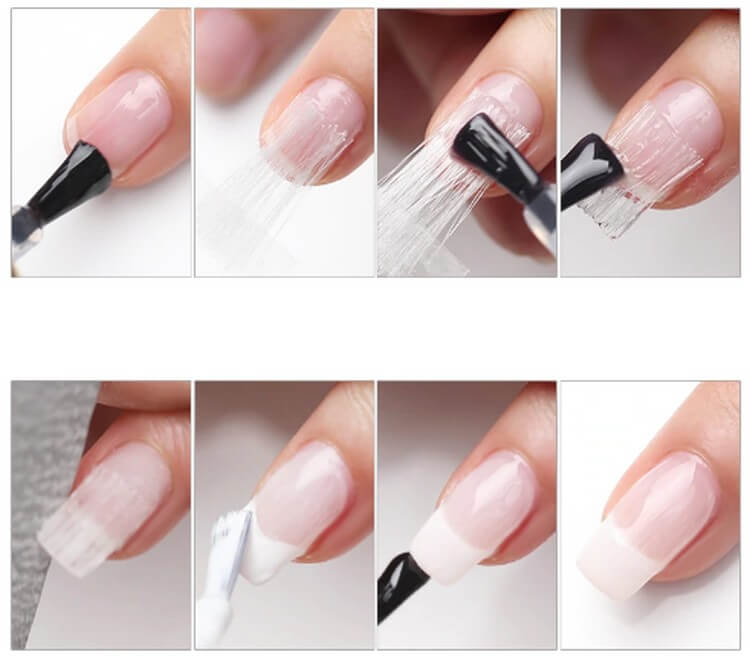 Когда применяется стекловолокно файбергласс для ногтей