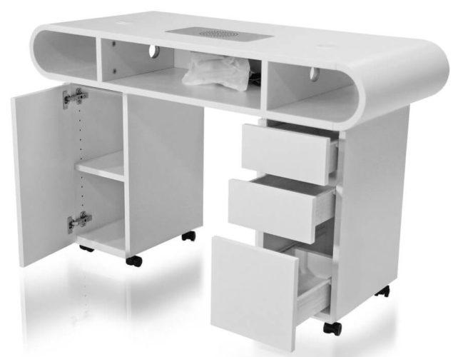 Маникюрный стол с двойной столешницей