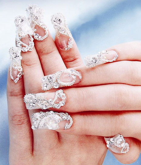 Свадебный дизайн ногтей-3