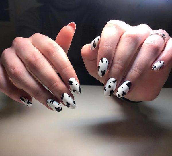 Черно-белый животный принт