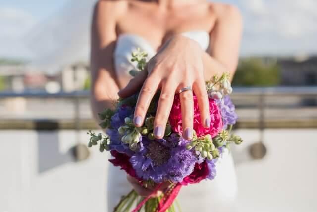 Свадебный дизайн в цвет букета