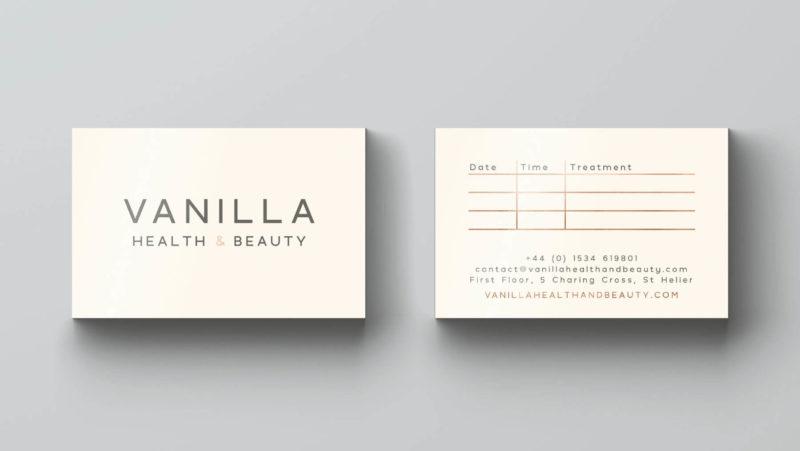 Образец визитки салона Vanilla