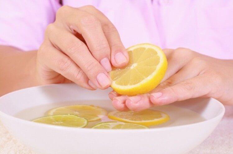 Ванночка с лимонным соком