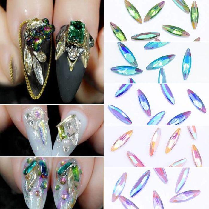 Виды кристаллов для ногтей