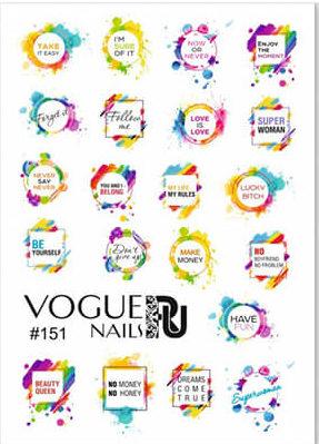 Слайдер-надписи от Vogue