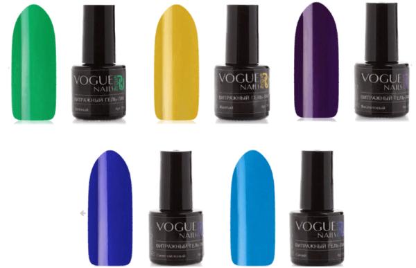 Палитра оттенков от Vogue Nails