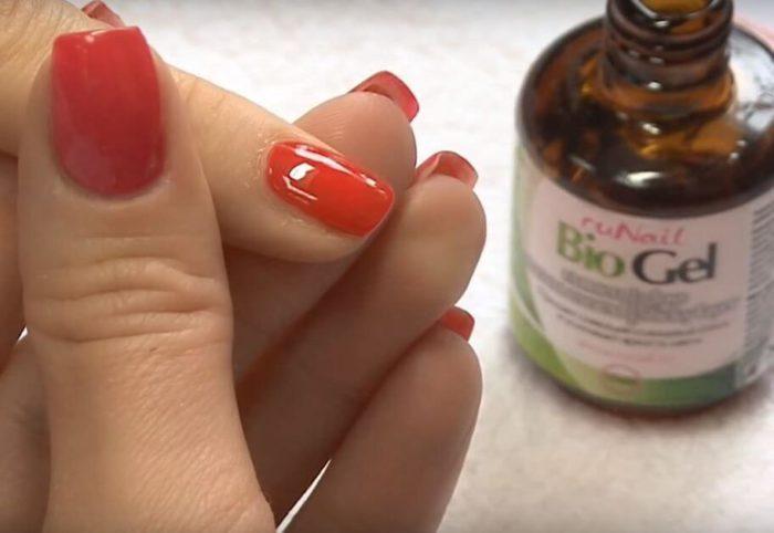 Биогель для здоровых ногтей