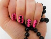 Зебра на ногтях фото галерея