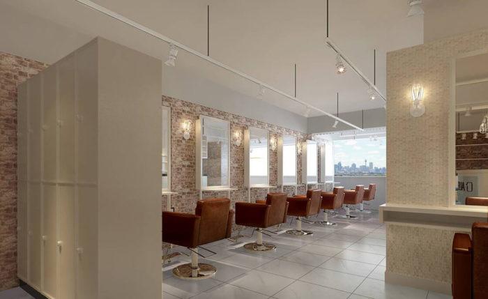 Зона парикмахера в салоне AUBE